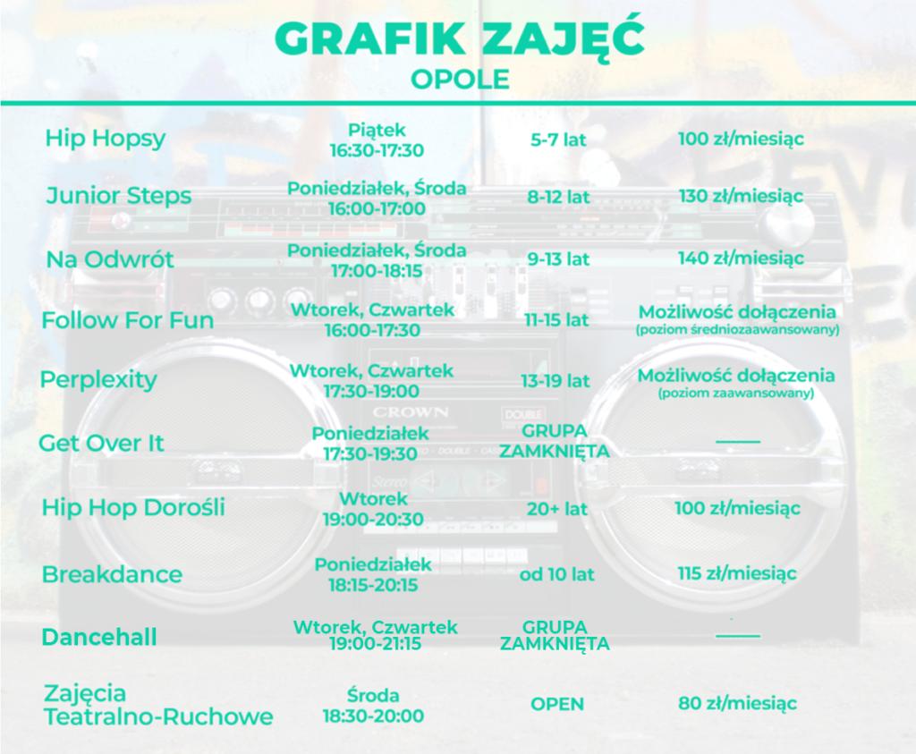 Zajęcia taneczne dla dzieci, młodzieży i dorosłych Breakdance Dancehall Twerk Hip Hop Buda Opole